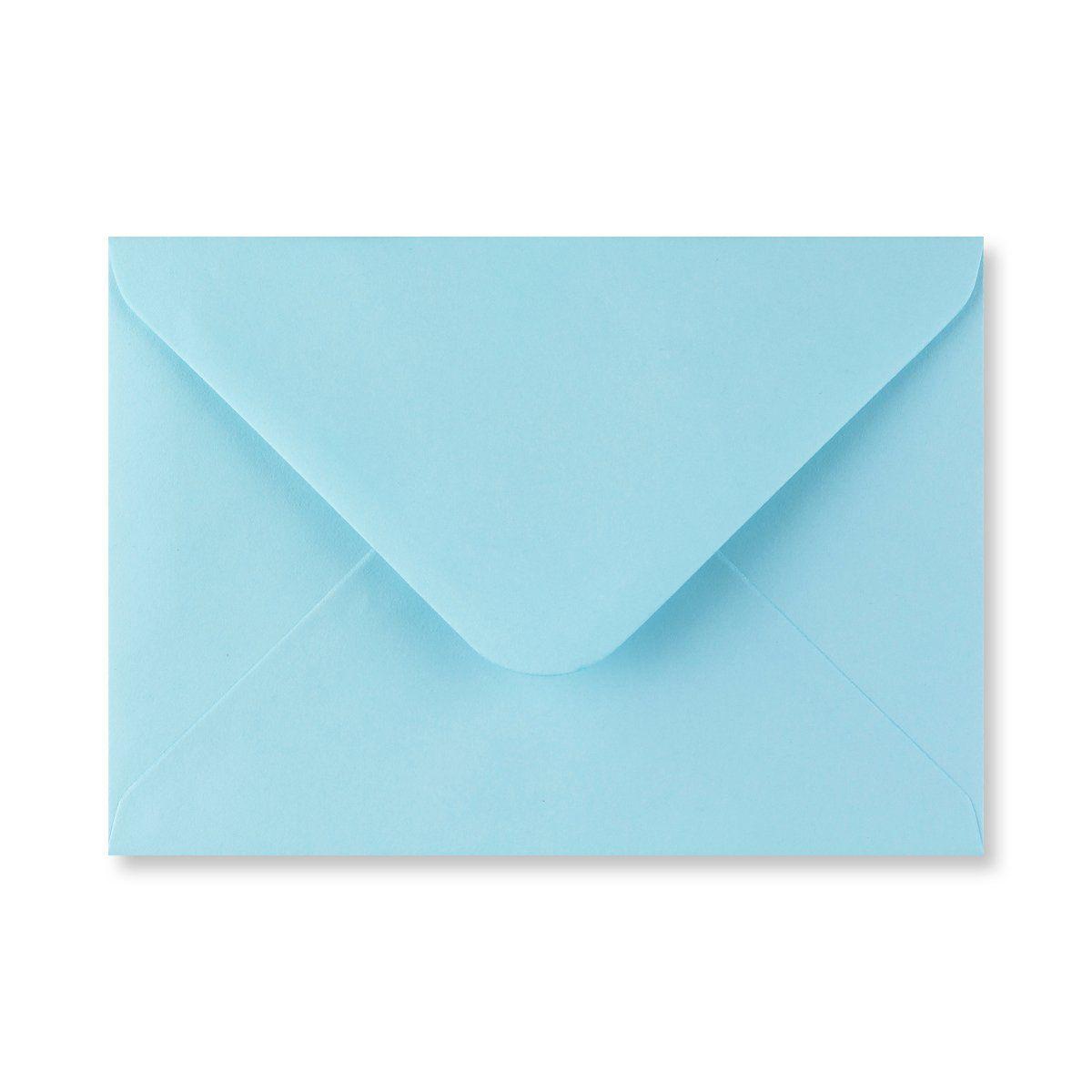Baby blauwe enveloppen 11,4 x 16,2 cm