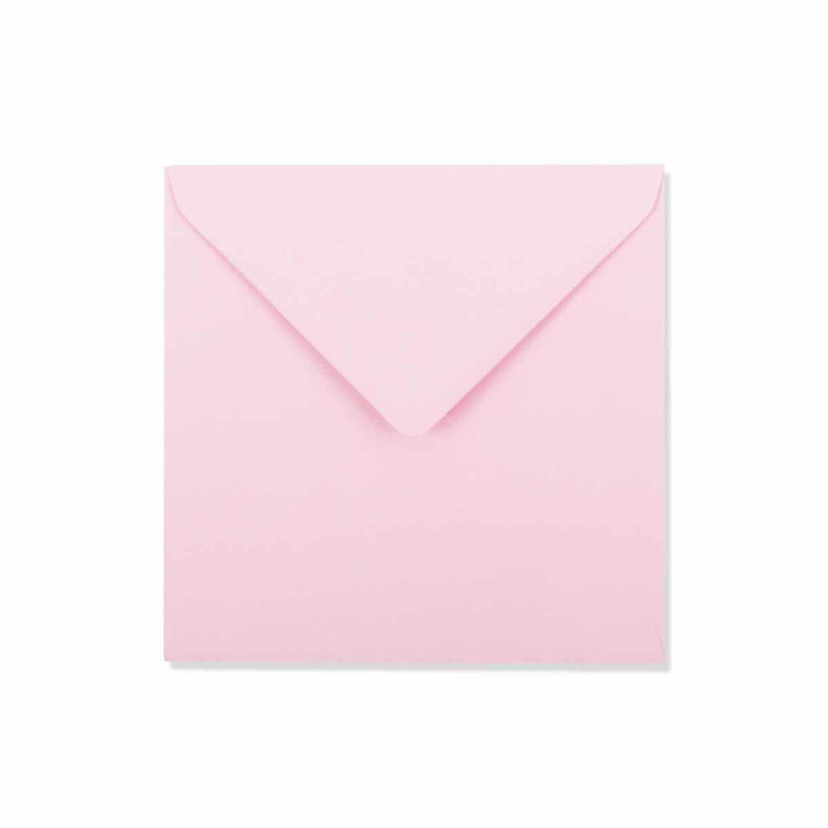 Baby roze enveloppen 15,5 x 15,5 cm